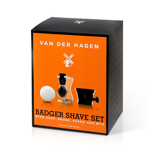 VAN DER HAGEN Luxury Badger Shave Set