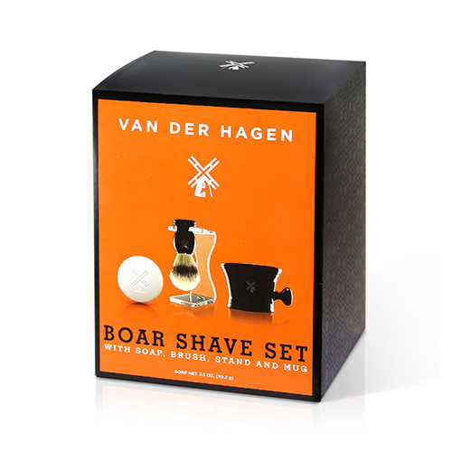 VAN DER HAGEN Luxury Boar Shave Set