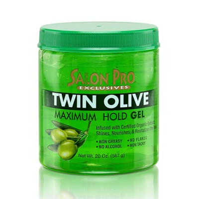 Salon Pro Exclusives Twin Olive Maximum Hold Gel 20 oz
