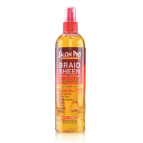 Salon Pro Braid Sheen Shine Spray Argan Oil (12oz)