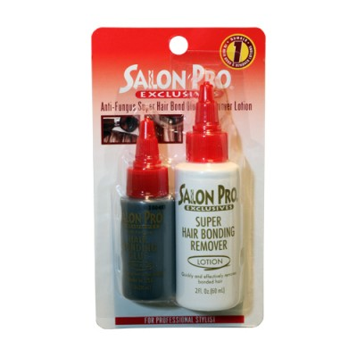 Salon Pro Hair Bonding Glue(1oz) and Remover(2oz) COMBO (Blister pack)