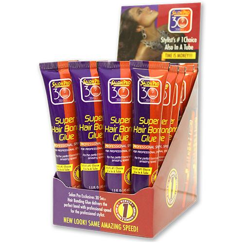 Salon Pro 30 Sec Hair Bond Tube Glue (1.5oz / 24pcs)