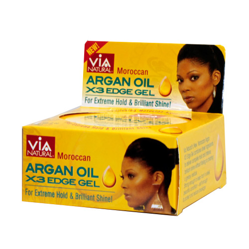 Via Natural X3 EDGE GEL (Moroccan Argan Oil) (2 oz)