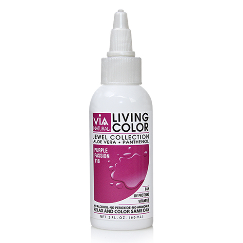 Via Natural Living Color 2oz (#118 Purple Passion)