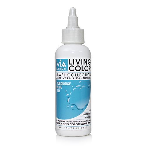 Via Natural Living Color 4oz (#114 Turquoise Blue)