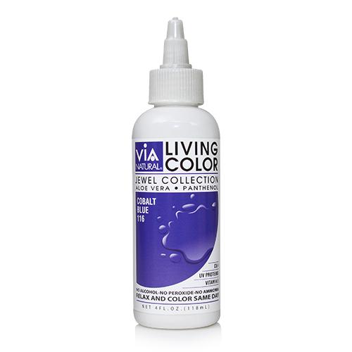 Via Natural Living Color 4oz (#116 Cobalt Blue)
