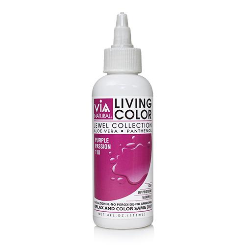 Via Natural Living Color 4oz (#118 Purple Passion)