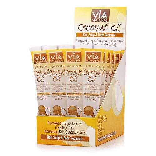 ViA Natural Oil for Hair, Scalp & Body Treatment (Coconut Oil) (1.5oz / 24pcs)