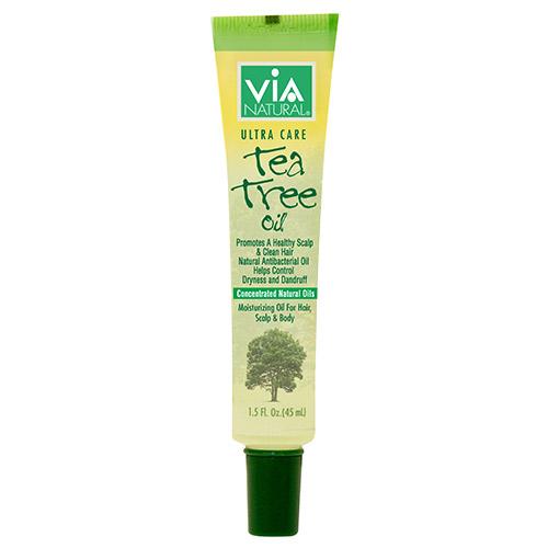 ViA Natural Oil for Hair, Scalp & Body Treatment (Tea Tree Oil) (1.5oz)