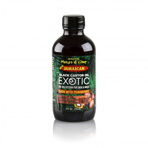 Exotic Jamaican Black Castor Oil Ojon with Pearberry (4 Fl Oz)