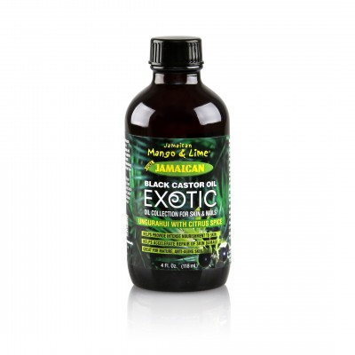 Exotic Jamaican Black Castor Oil Ungurahui with Citrus Spice (4 Fl Oz)