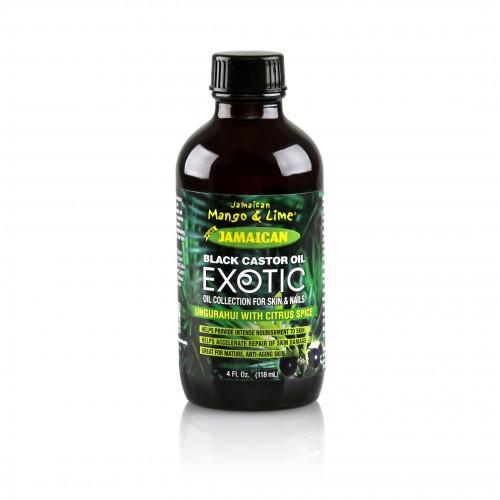 Exotic Jamaican Black Castor Oil Ungurahui with Citrus Spice (4 Fl Oz)