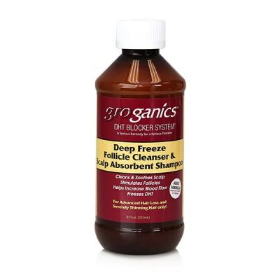 Groganics Deep Freeze Follicle Cleanser & Scalp Absorbent Shampoo (8 oz)