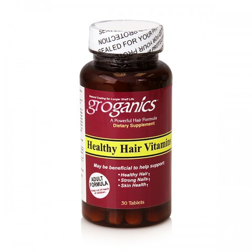 Groganics Healthy Hair Vitamins 30  Tablets