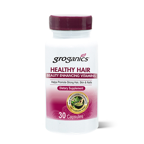 Groganics Healthy Hair Beauty Enhancing Vitamins (30 Capsules)